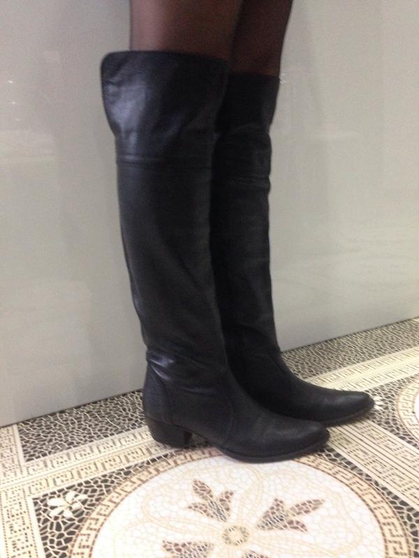Суперовые дорогущие кожаные ботфорты сапоги бренд много брендовой одежды на  странице!!!1 ... 66485598fc4b9