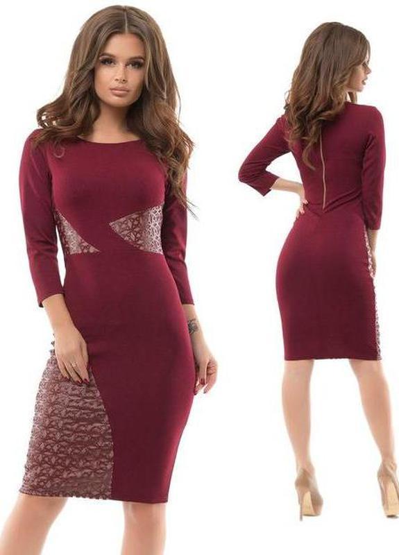 8fa34b0a163418b Новое очаровательно женское платье 54 размера цвета бардо, цена ...