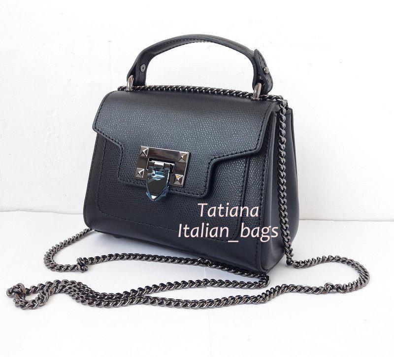 29fb442471de Маленькая кожаная сумочка на цепочке. трендовая модель. италия.1 фото ...