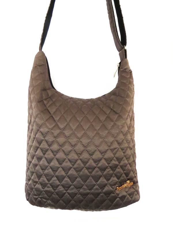 f28655fc41b1 Стеганая женская сумка-мешок через плечо бронза, цена - 150 грн ...