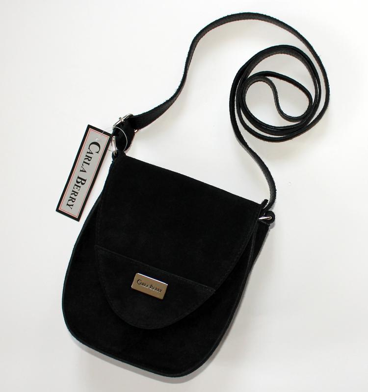 0308e886f6f0 Итальянская черная замшевая (натуральная замша) сумка, carla berry (италия)1  фото ...