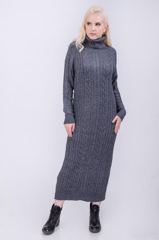 длинное вязаное платье косы цена 405 грн 9891992 купить по