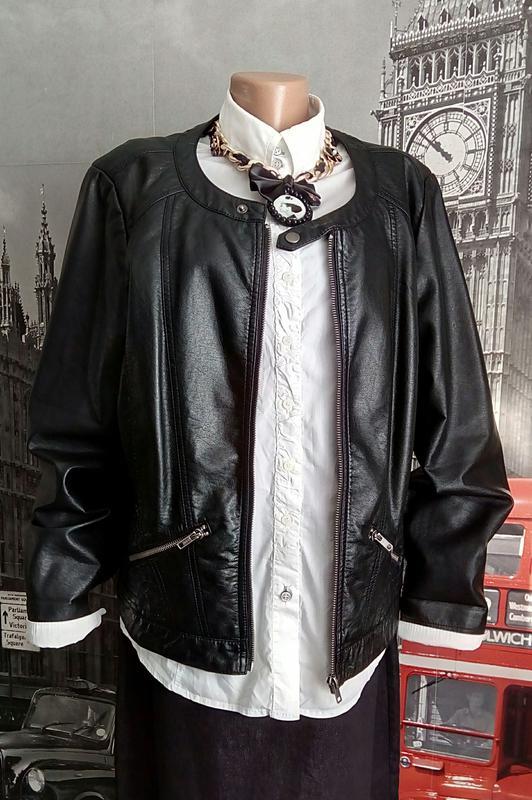 Італійська стильна шкіряна стегана куртка 87bde0831a939
