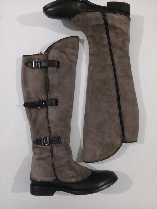 Демісезонні чоботи- жокеї шкіра + замша італія1 ... 16047fccf4636