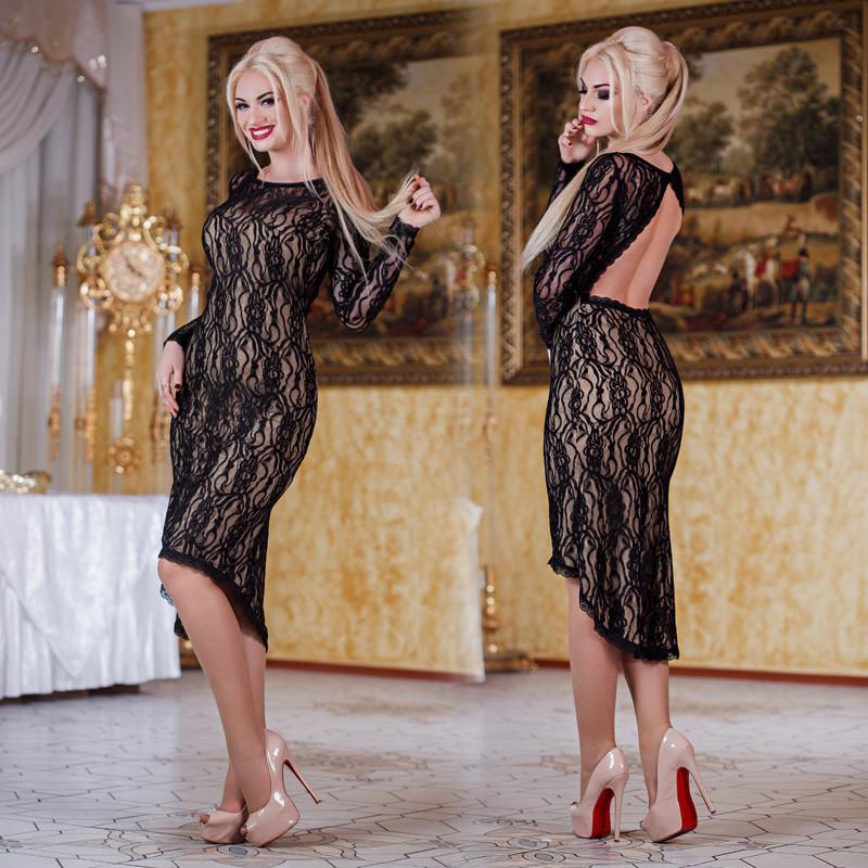1cbf626519612db Вечернее женское платье с вырезом на спине