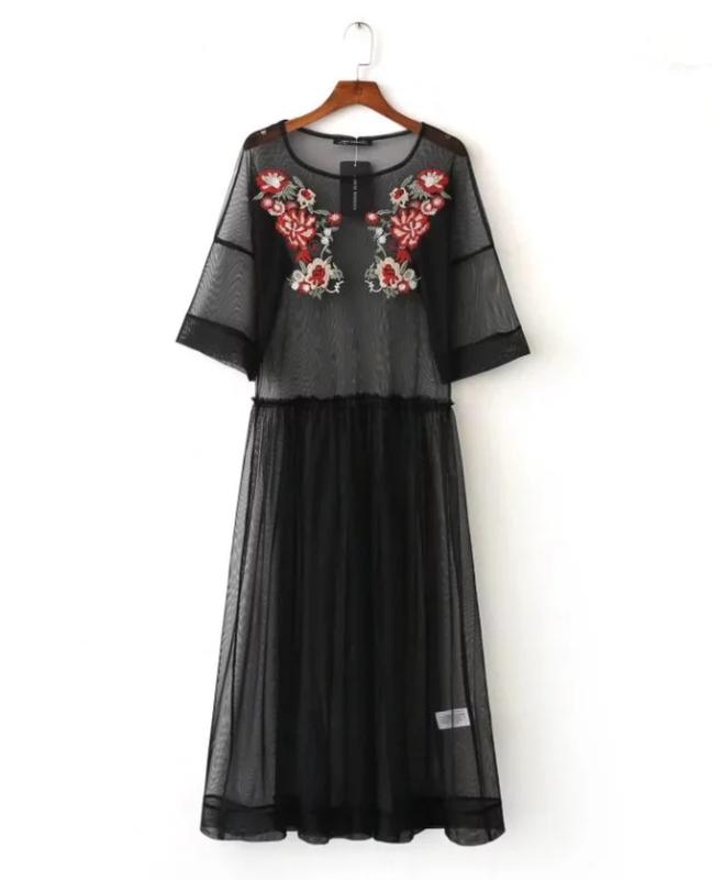 Платье сетка вышивка ZARA, цена - 300 грн,  10006875, купить по ... 6992a12e432