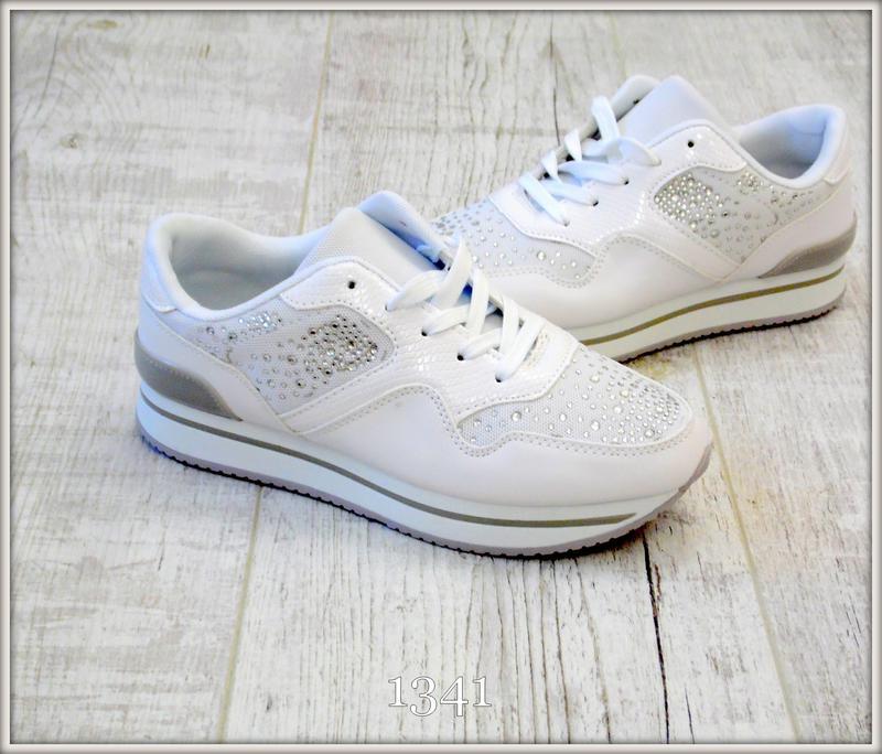 218bf871 Белые женские кроссовки со стразами на платформе купить недорого 37,38,39  размеры1 фото ...
