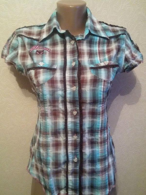 fb721e6baf3 Молодежная рубашка в клеточку1 ...