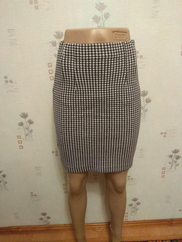 740ea0516e3 Короткая облегающая юбка карандаш в клетку шахматку marks   spencer1 ...