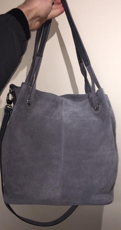 ce77cbc919d2 Женская замшевая сумка серая vera pelle (италия) Vera Pelle, цена ...