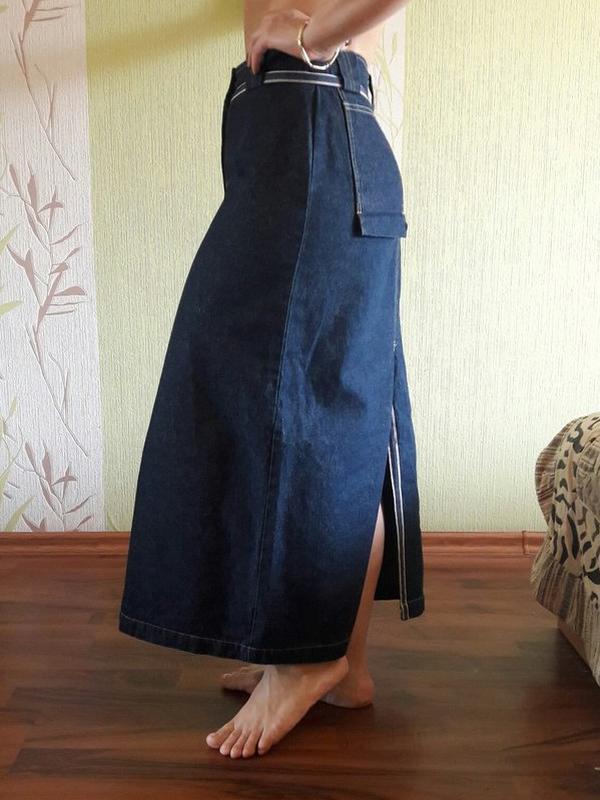 408bc79d7ba Длинная джинсовая юбка в пол1 фото ...