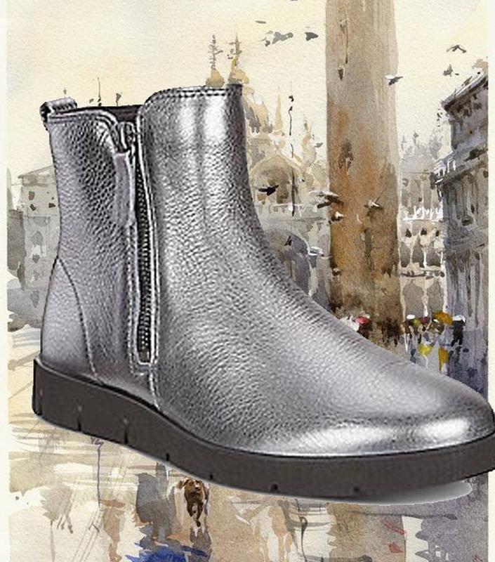 83a1f4457 Женские ботинки ecco bella серебро натуральная кожа 38-41 р.1 фото ...