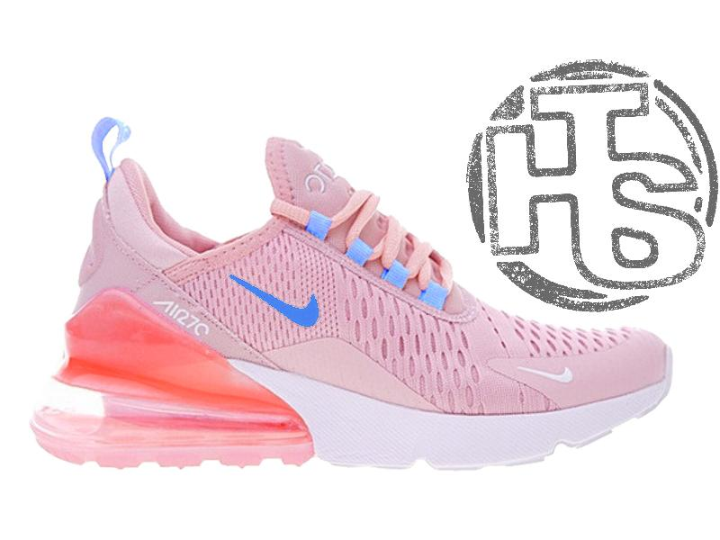 8966efe5 Женские кроссовки nike air max 270 flyknit pink/white ah8050-6101 фото ...