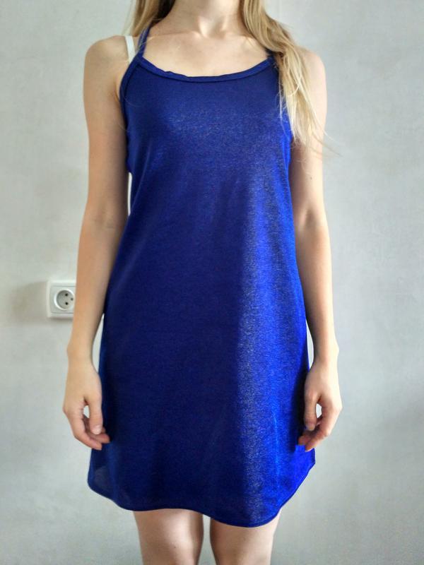 67a90421a25 Платье синее блестящее трапецевидное uk6 8 36 (xs) платье для фотосессии1  ...