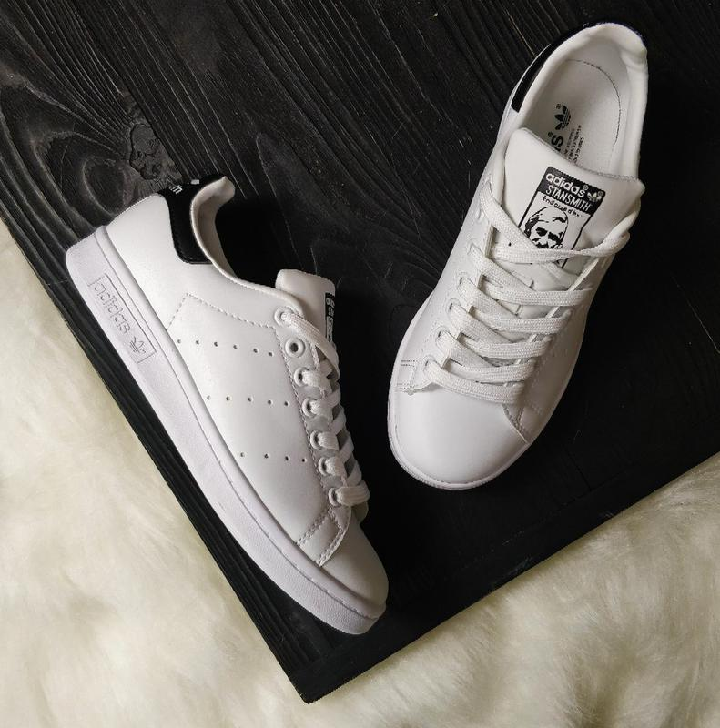 Кроссовки adidas stan smith white black р.36 5dacb76c4c5ac