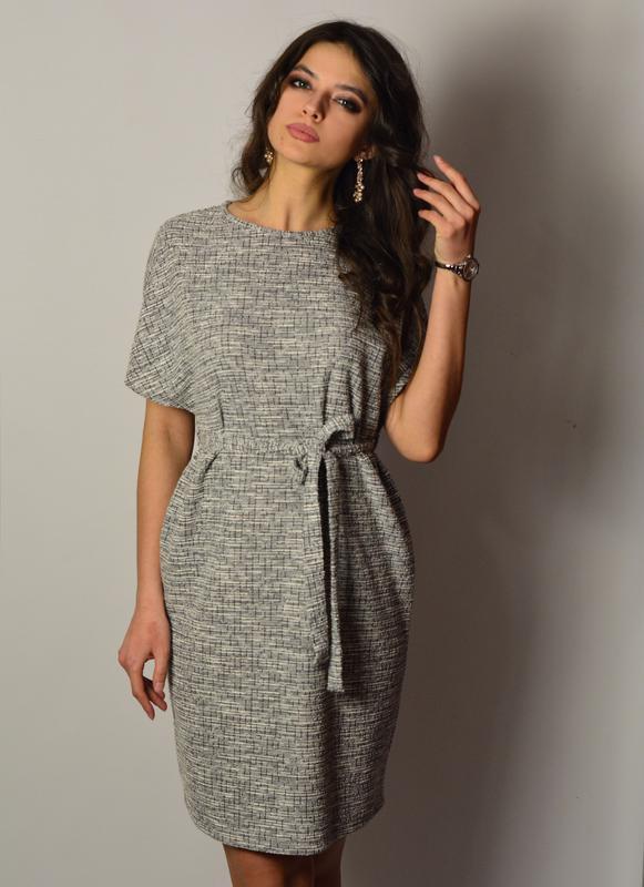 205ff2b2cf7 Красивейшее твидовое платье свободного покроя1 фото ...
