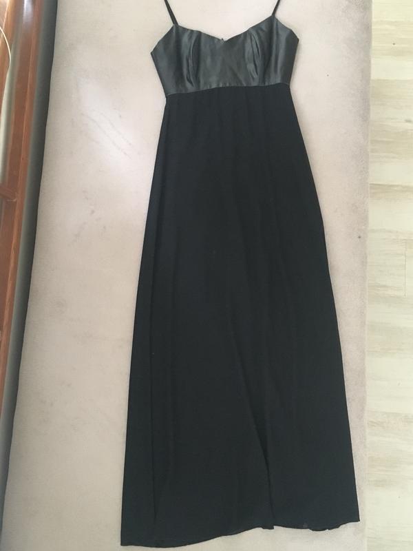 59ea849c0c7 Чёрное шифоновое платье в пол1 ...