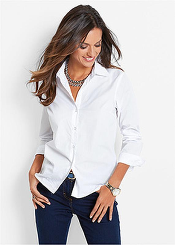 7367f022b50 Белая женская рубашка рукав 3 4 l.o.g.g.12 размер.1 фото ...