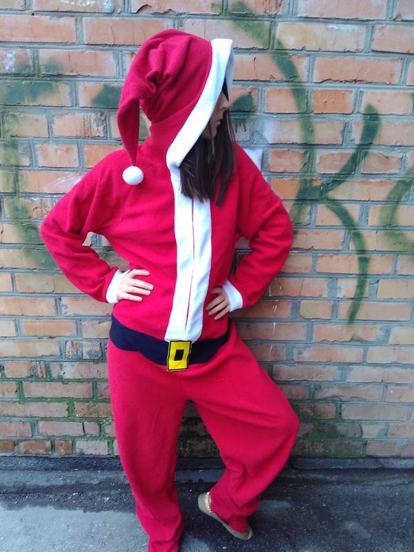 Пижама кигуруми новогодний костюм санты деда мороза 1a99021760fdd