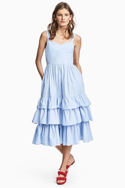 6a44c016f06 Небесно голубое платье- сарафан от h m 100 проц хлопок! поплин! лето 20191  фото ...