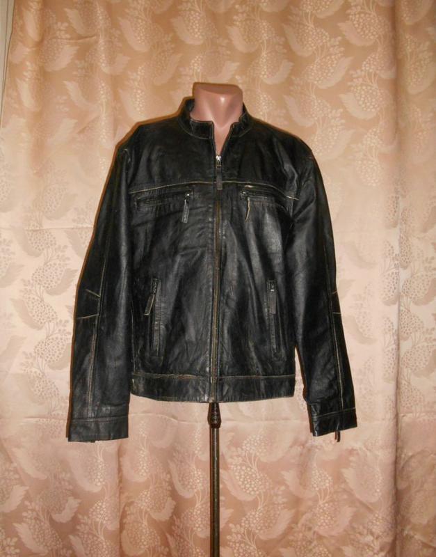 4ba17a15ed7 Стильная кожаная куртка ts с элементами потёртости (стиль hans)1 ...