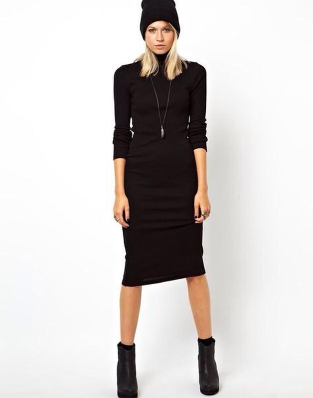 9167d67478a704f Черное платье-гольф Rainbow Collection, цена - 185 грн, #10391791 ...