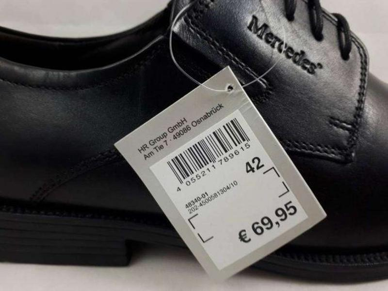 742106181 Mercedes (ecco, clarks) 44 размер кожаные туфли оригинал сток распродажа1  фото ...