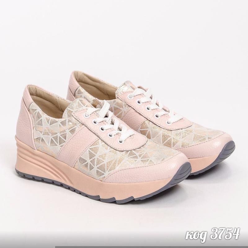 Кроссовки розовые из натуральной кожи с вставками натуральной замши на  розовой подошве1 ... 4fc153c36df