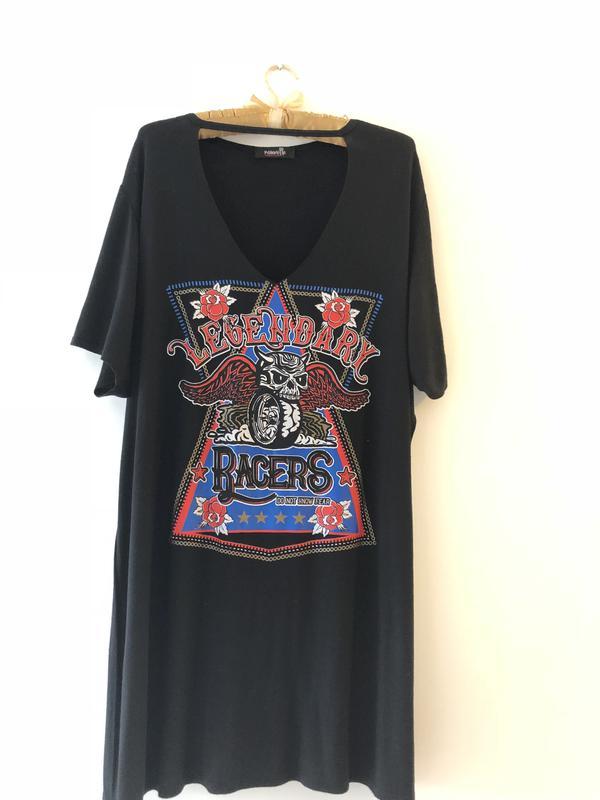 0518ad0a9c3 Удлинённая платье- футболка с чокером1 фото ...