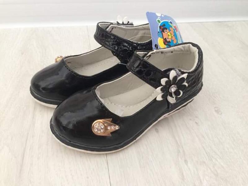Чорні туфельки для дівчинки шалунішка Шалунишка c4771e9bb44d6