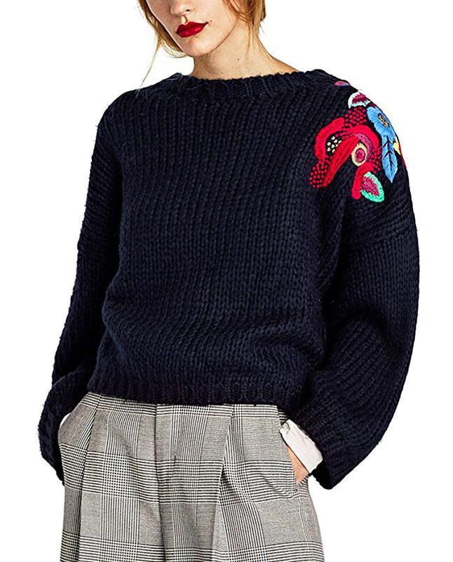 вязаный свитер с вышивкой Zara L Zara цена 675 грн 10505018
