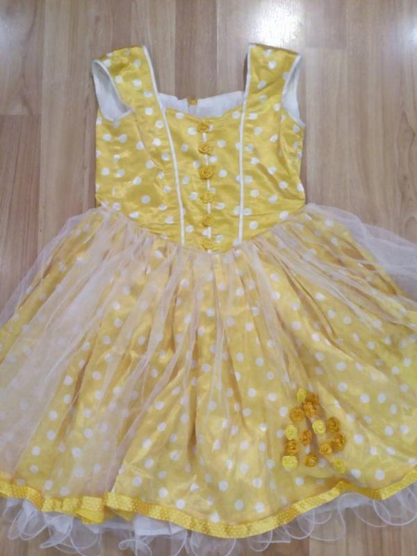77f83ae0f50 Желтое платье для девочки (5-6 лет)1 фото ...