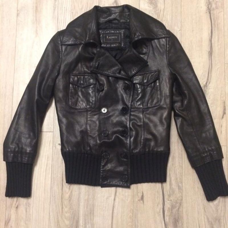 Демисезонная кожаная куртка lacoste 38 m Lacoste, цена - 6300 грн ... c9d69652bc8