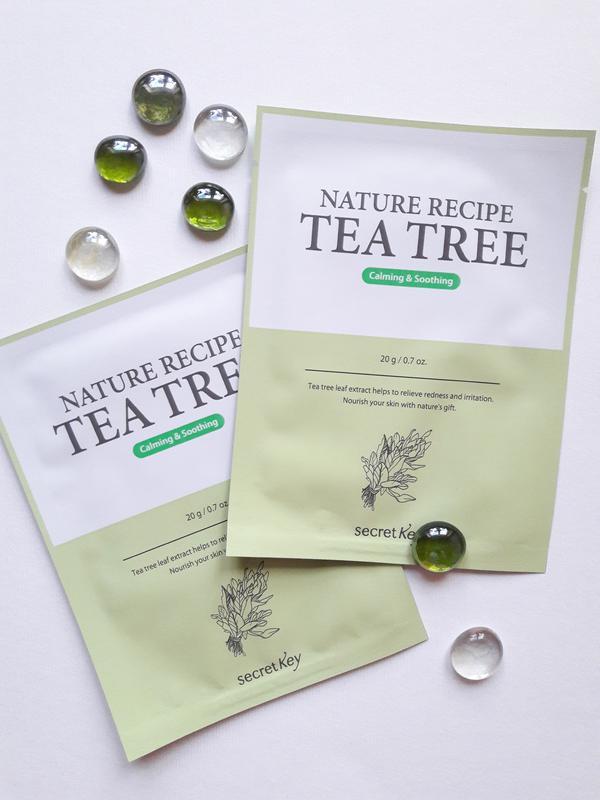 Картинки по запросу Маска тканевая чайное дерево SECRET KEY NATURE RECIPE MASK PACK