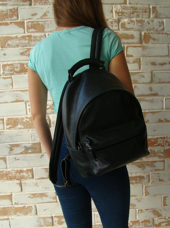 dc1ba74f3eb6 Стильный женский кожаный рюкзак / качественный рюкзак/ черный рюкзак1 фото  ...