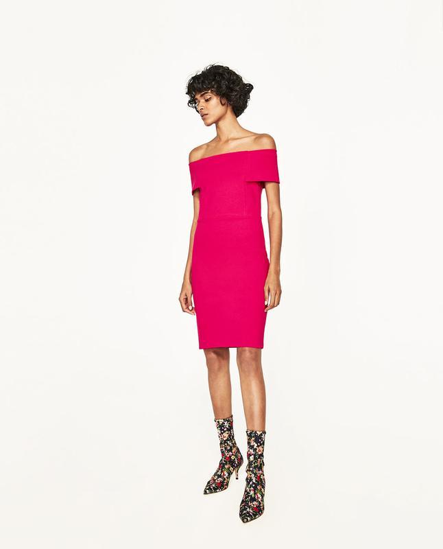 49c17ead65d701a Платье футляр с открытыми плечами zara ZARA, цена - 619 грн ...