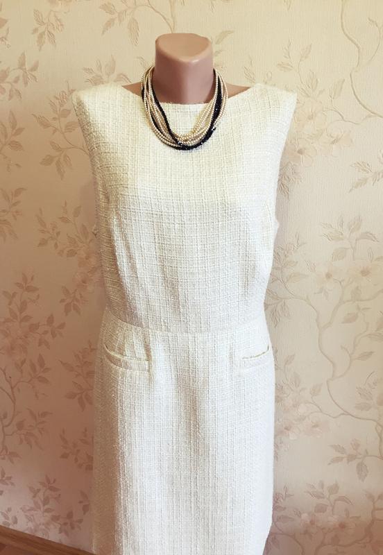 Плотное платье футляр от f f в стиле coco chanel (uk20 - наш 52 54 ... 7d55c72202f