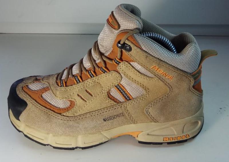 bb0b73c22 Meindl кожаные треккинговые ботинки кроссовки оригинал 33-34 размер1 фото  ...