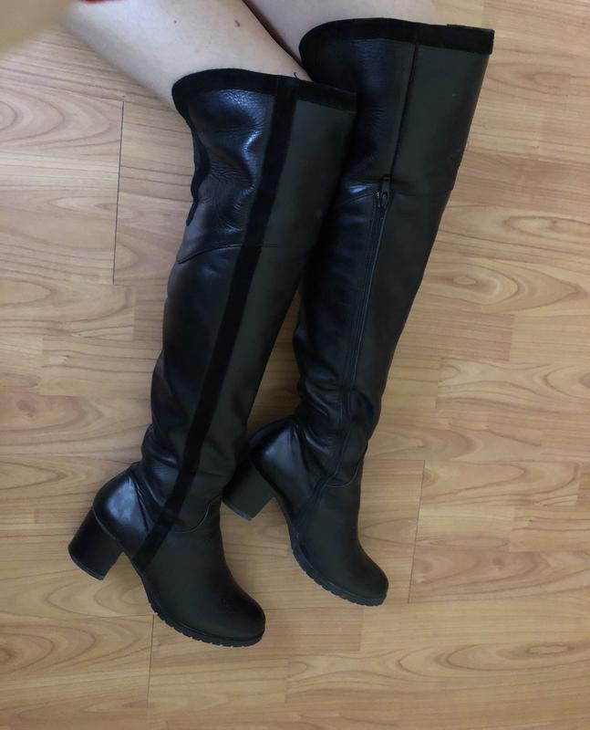 a8aae1074f605a Фирменные ботфорты сапоги чоботи шкіра натуральная кожа Feel Good ...