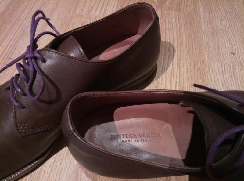19e11501f680 Коричневые закрытые кожаные женские туфли на шнурках за 600 грн.