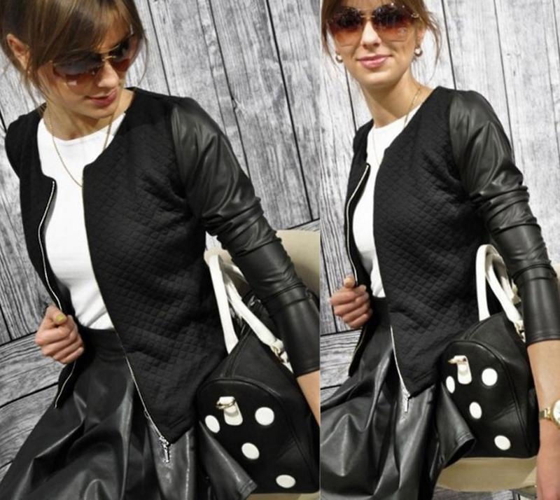 куртка кожзам женская 7