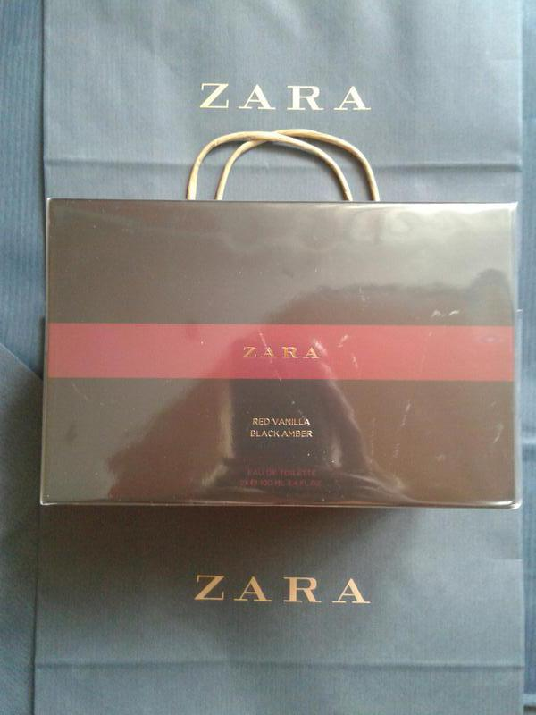 Набор zara red vanilla + black amber 2x100 ml1 фото ...