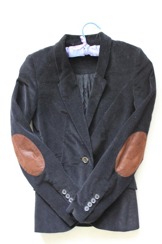 Актуальный вельветовый пиджак с заплатками на локтях zara basic ZARA ... 096da280f04