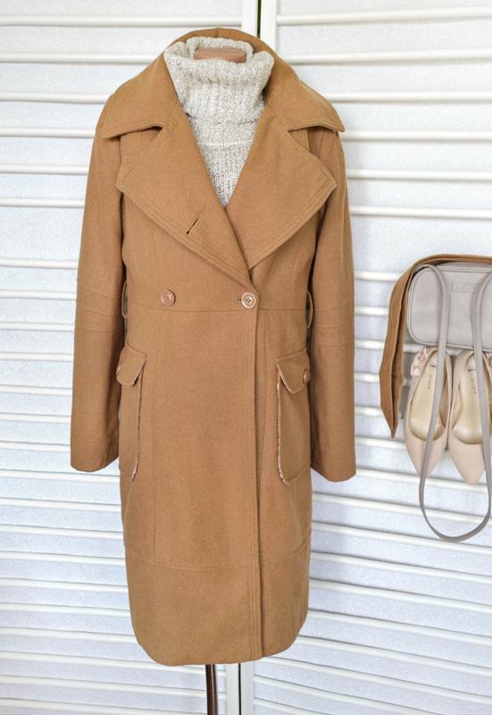 6dbad60c48e3 Двубортное шерстяное пальто цвета camel от zoi, цена - 750 грн ...