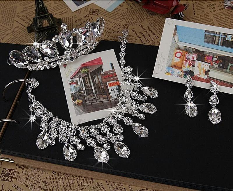 Бижутерия на свадьбу диадема тиара корона ожерелье серьги, цена ... f426a141773
