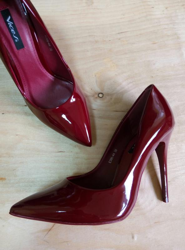 Стильные бордовые туфли лодочки от vices, цена - 630 грн,  1296220 ... db0dc013d1d