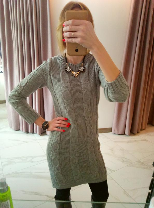 0edaf6e040ed Вязаное шерстяное теплое платье косы Next, цена - 249 грн,  10703944 ...