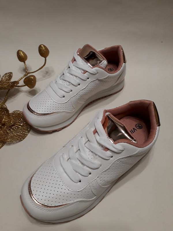 Акція! кросівки (кроссовки) жіночі білого кольору розмір 37 17291815c3f13