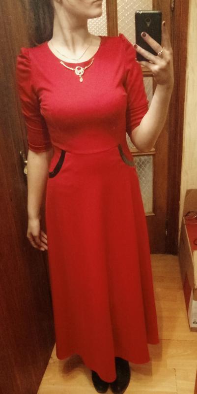 07f62f4a1f9 Красное вечернее длинное платье в пол1 ...