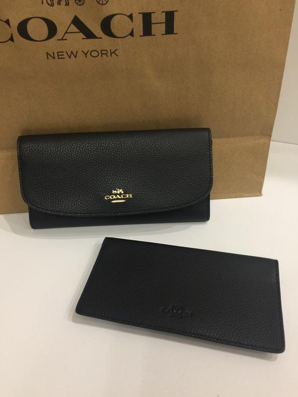 Женский кошелек coach new york pebbled leather checkbook. оригинал.1 ... 95ace6faf6c